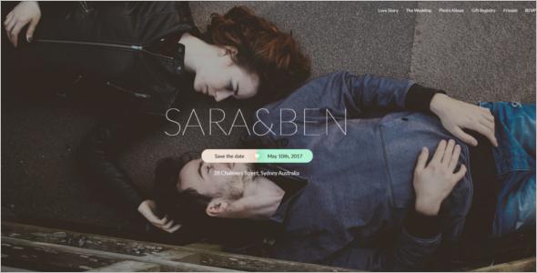 Wedding Event Website Theme