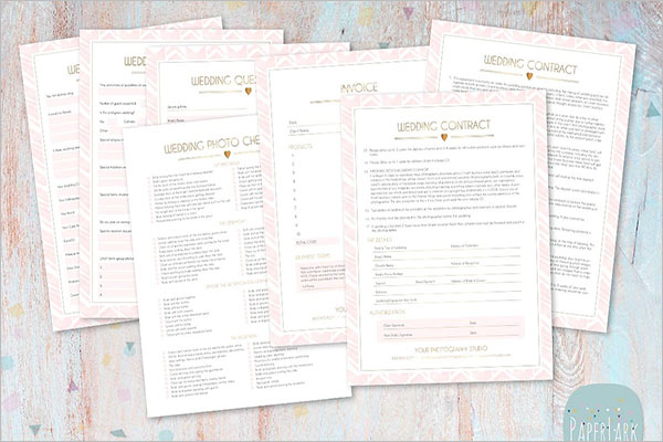 Wedding Photography Checklist Template