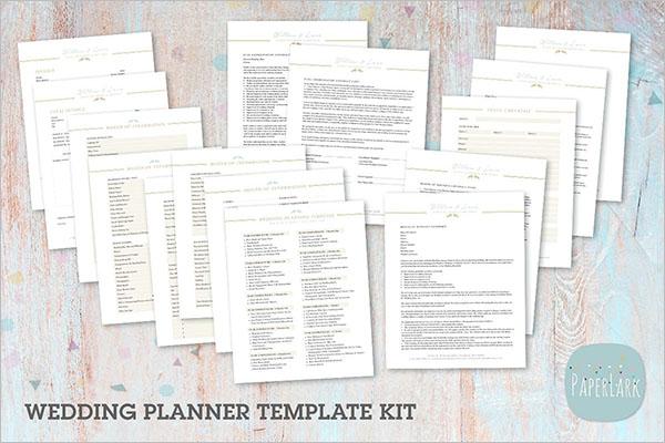 Wedding Planner Template Kit