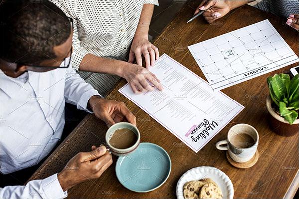 Wedding Planner With Calendar Checklist