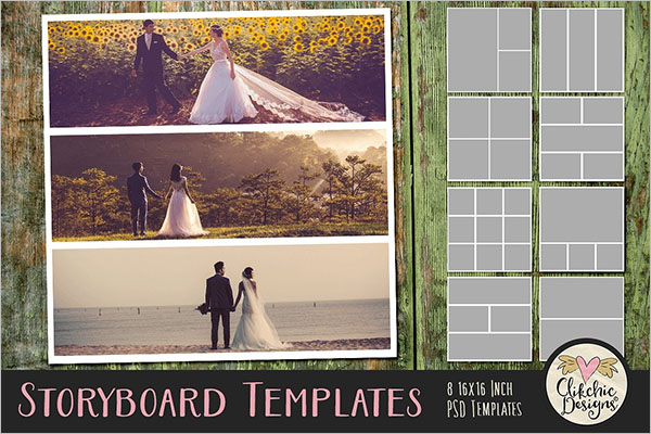 Wedding Storyboard Photoshop Template