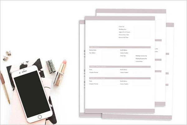 Wedding Venue Checklist Template