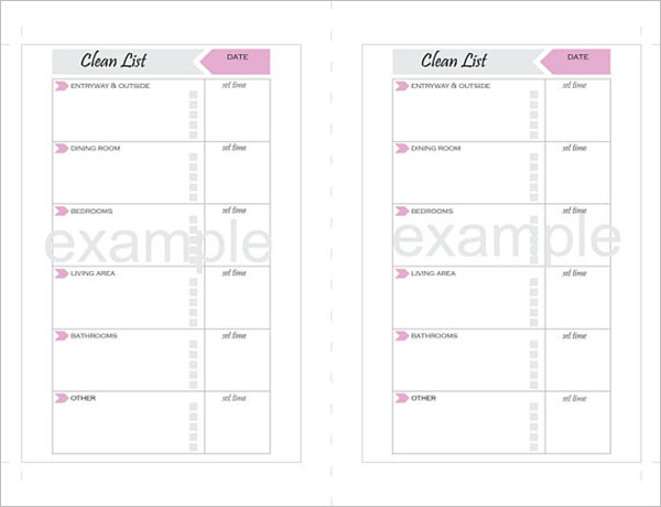 Weekly Cleaning Checklist PDF Template