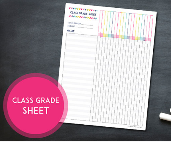 Weekly Grade Sheet Template