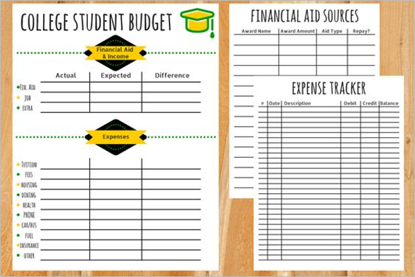 Weekly Student Budget Template