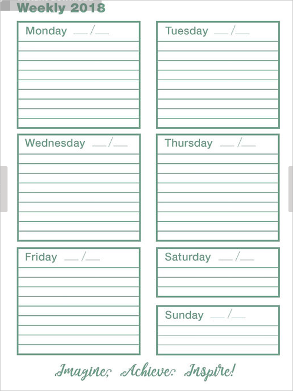 Weekly Time Tracking Template