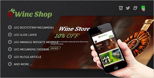 Wine Store Responsive Prestashop Template