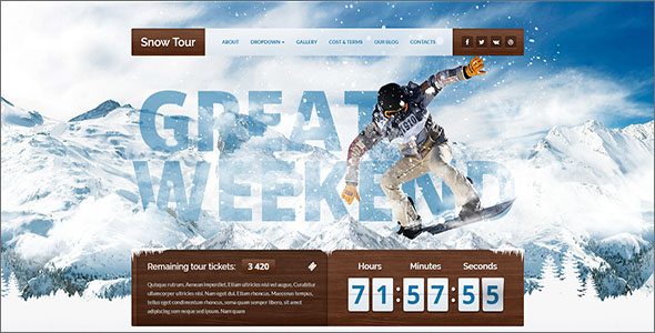 Winter Travel HTML Template