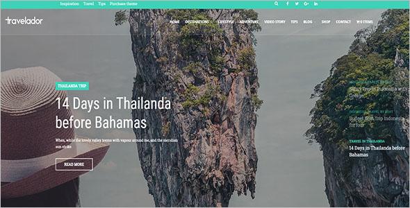 WordPress Blog Travel Theme