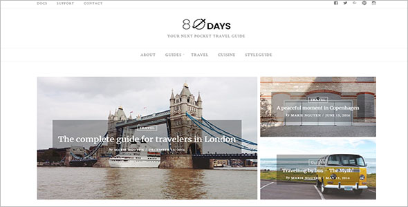 WordPress Theme For Travel Blogs