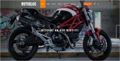 WordPress Theme for Motorcycle Lovers