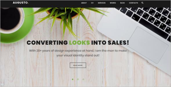 Writer Website Example Theme