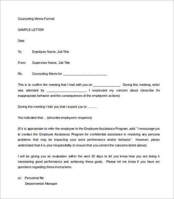 Writing An Employee Warning Letter Format