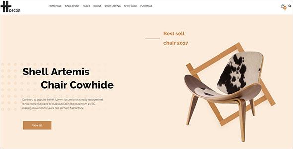 eCommerce Furniture Blog Theme