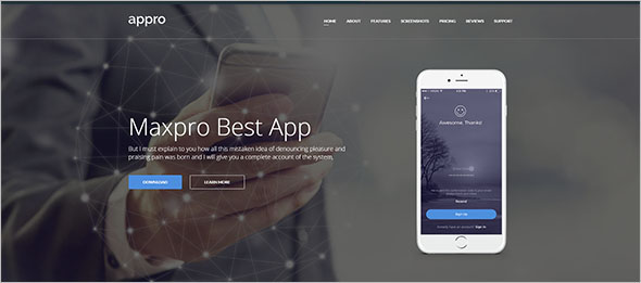 iPhone App Landing Page Template