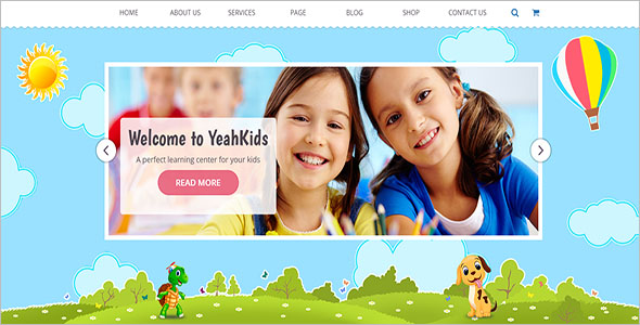 kid school website Templates
