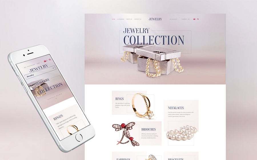 Jewelry Collection Responsive Shopify Template
