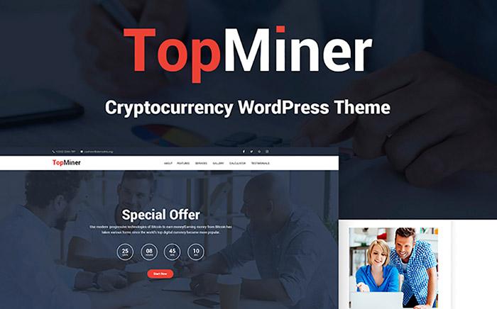 TopMiner - Cryptocurrency WordPress Theme