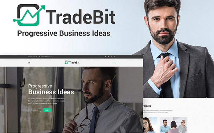 TradeBit - Bitcoin-Trading WordPress Theme