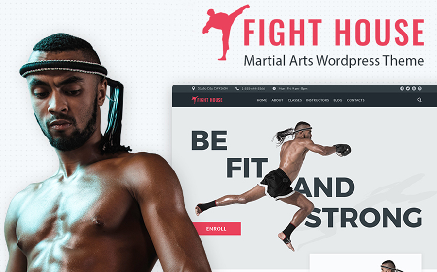 Fight House - Brutal Martial Arts Club WordPress Theme