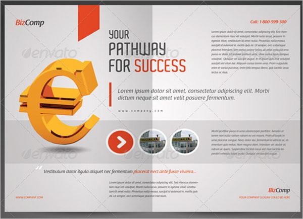 A4 Half Fold Brochure Template