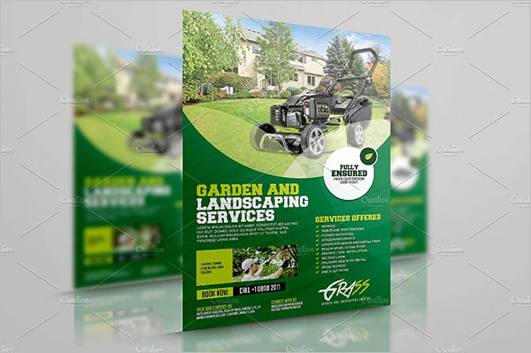 A4 Lawn Care Flyer Template