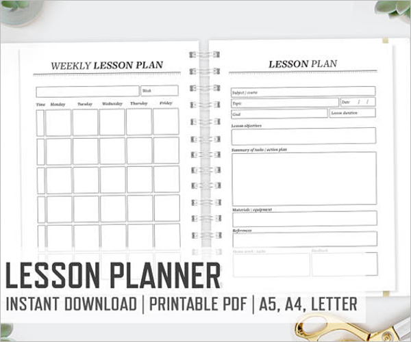 A4 Lesson Plan Template