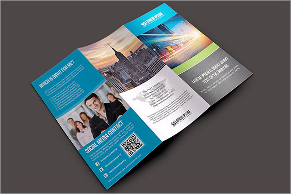 A4 Video Brochure Template