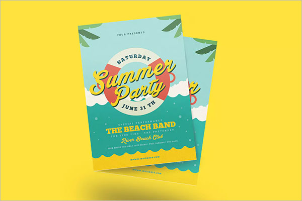 AI Summer Party Flyer Template