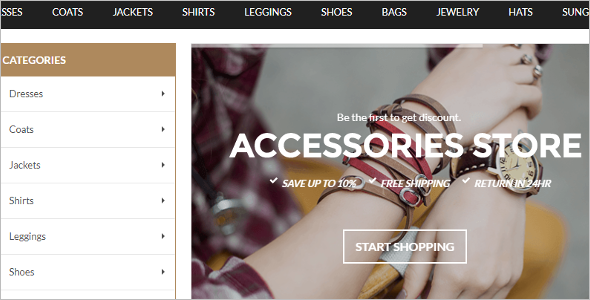 Accessories Store Magento Template