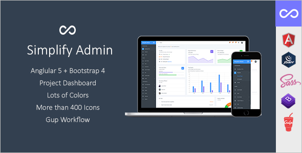 Admin Bootstrap jQuery Template