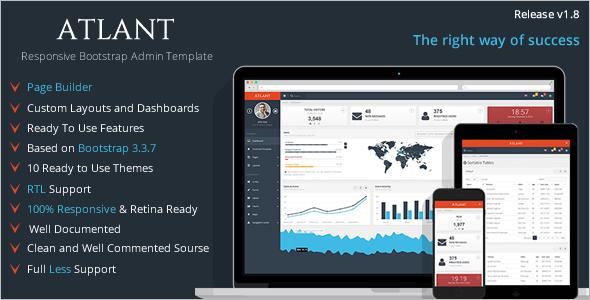 Admin Dashboard Bootstrap Template