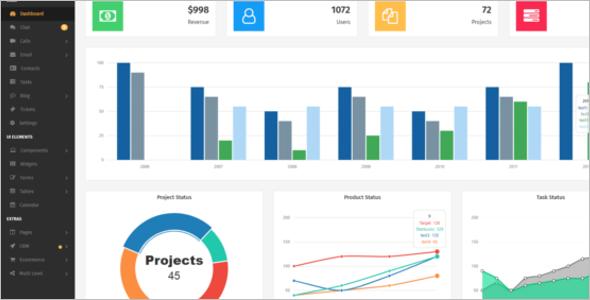 Admin Panel Bootstrap Theme