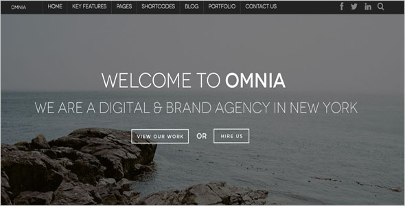 Advertising Drupal Website Template