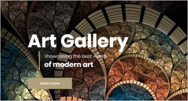 Art Gallery Website Templates