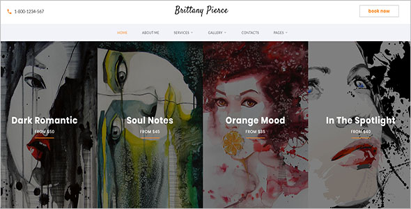 Art Gallery Website Templates Free Responsive Themes - Art gallery website templates