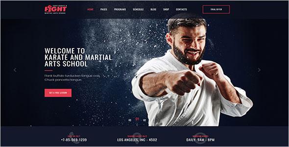 Arts School Website PSD Template