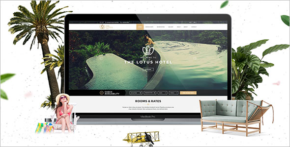 Attractive Resorts Website Template