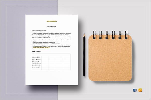 Audit SEO Report Template