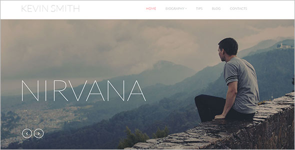 Author Blog Responsive Template