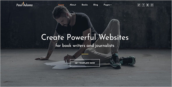 Author & Writer Blog Template