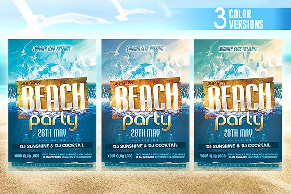 Awesome Flyer For Summer Party