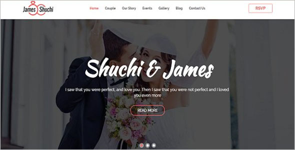 Awesome Wedding Website Template