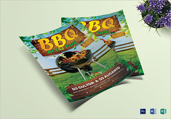 BBQ Summer Party Flyer Template