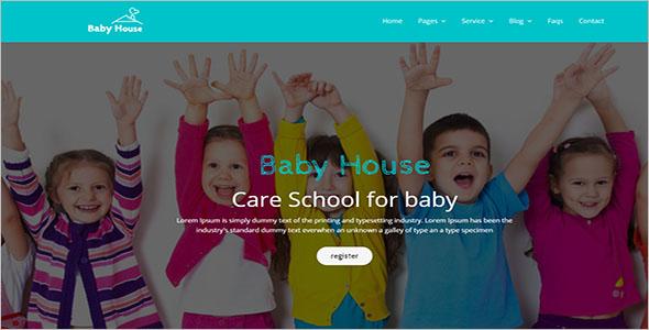 Baby Care School Website Template