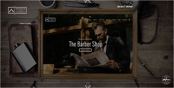 Barbershop HTML Website Theme