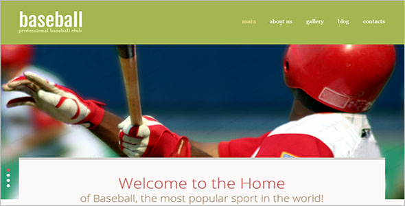 Baseball Club Website Theme