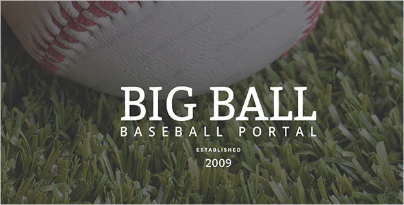 Baseball Landing Page Website Template