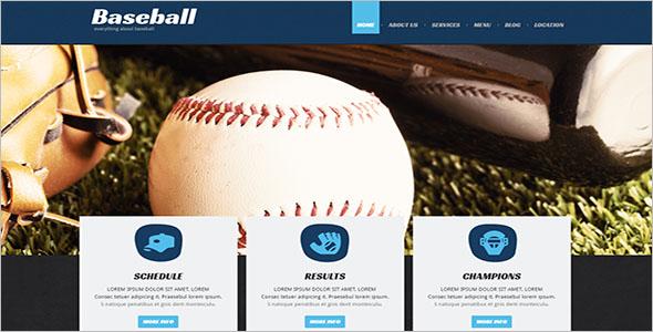 Baseball Website Template Free Download