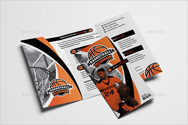Basketball Brochure Template